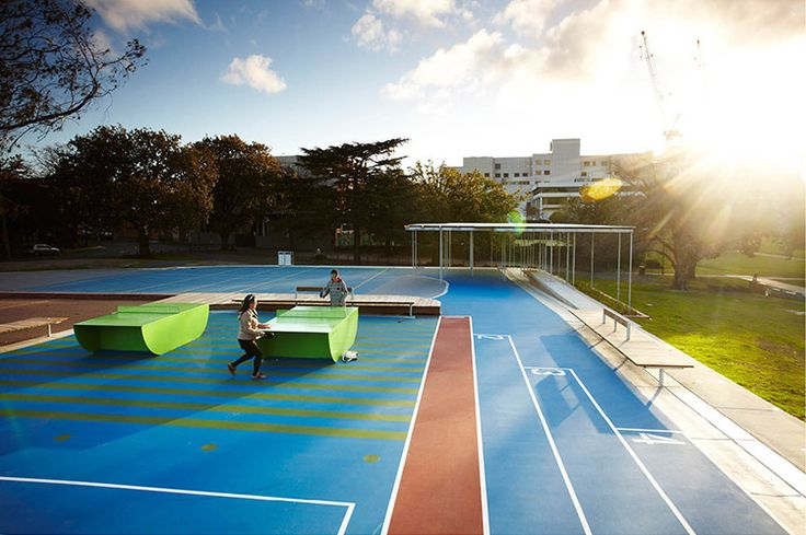 2013 AILA Victorian Landscape Architecture Awards :: Box Hill Gardens Multi Use Purpose Area By Aspect with Outdoor Badminton Tables. Studios. Image: Andrew Lloyd