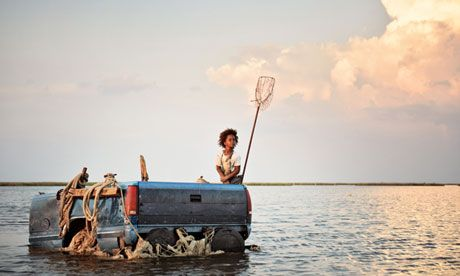 Truck bed boat featured in the film, Beasts of the Southern Wild, an apocalyptic southern gothic portrayal of  the post Katrina catastrophe in the bayou. (photo by Jess Pinkham)