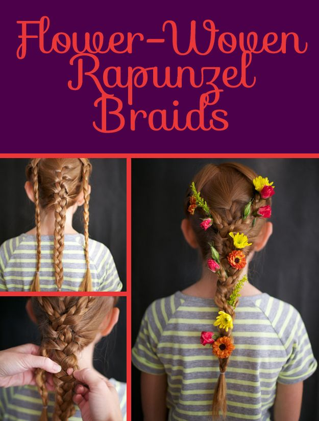 Flower-Woven Rapunzel Braids | 26 DIY Hairstyles Fit For A Princess