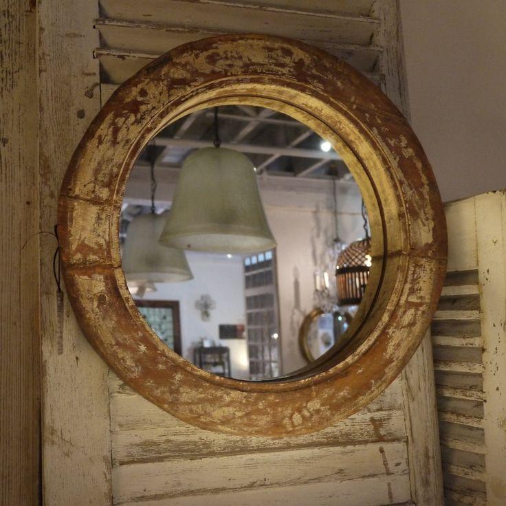 Teak porthole mirror | Elements i love...