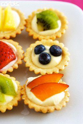 mini tartaletas de fruta
