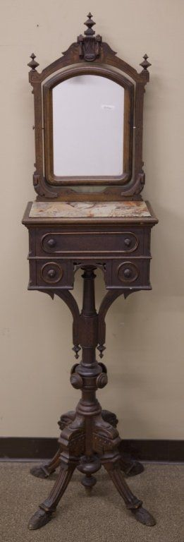 Victorian shave stand
