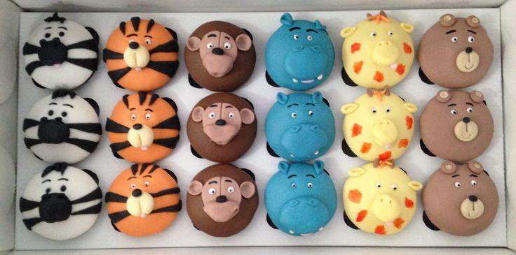 Cupcakes tema Safari #cupcakes #safari #fondant #docesdecorados