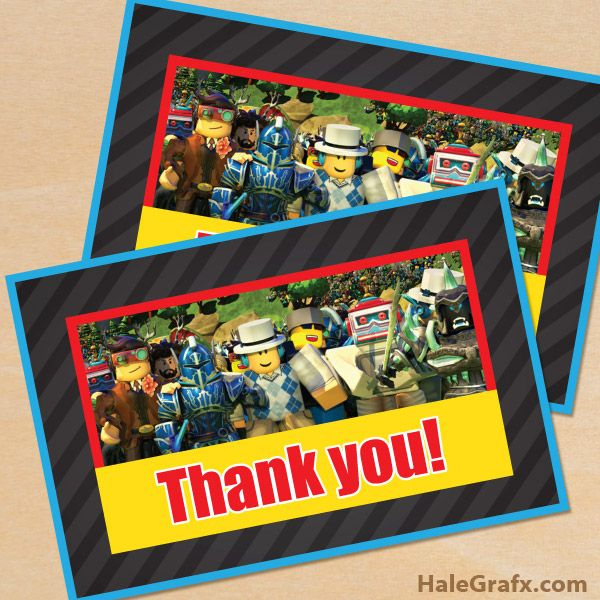 FREE Printable Roblox Thank You Card | Roblox Printables in 2019