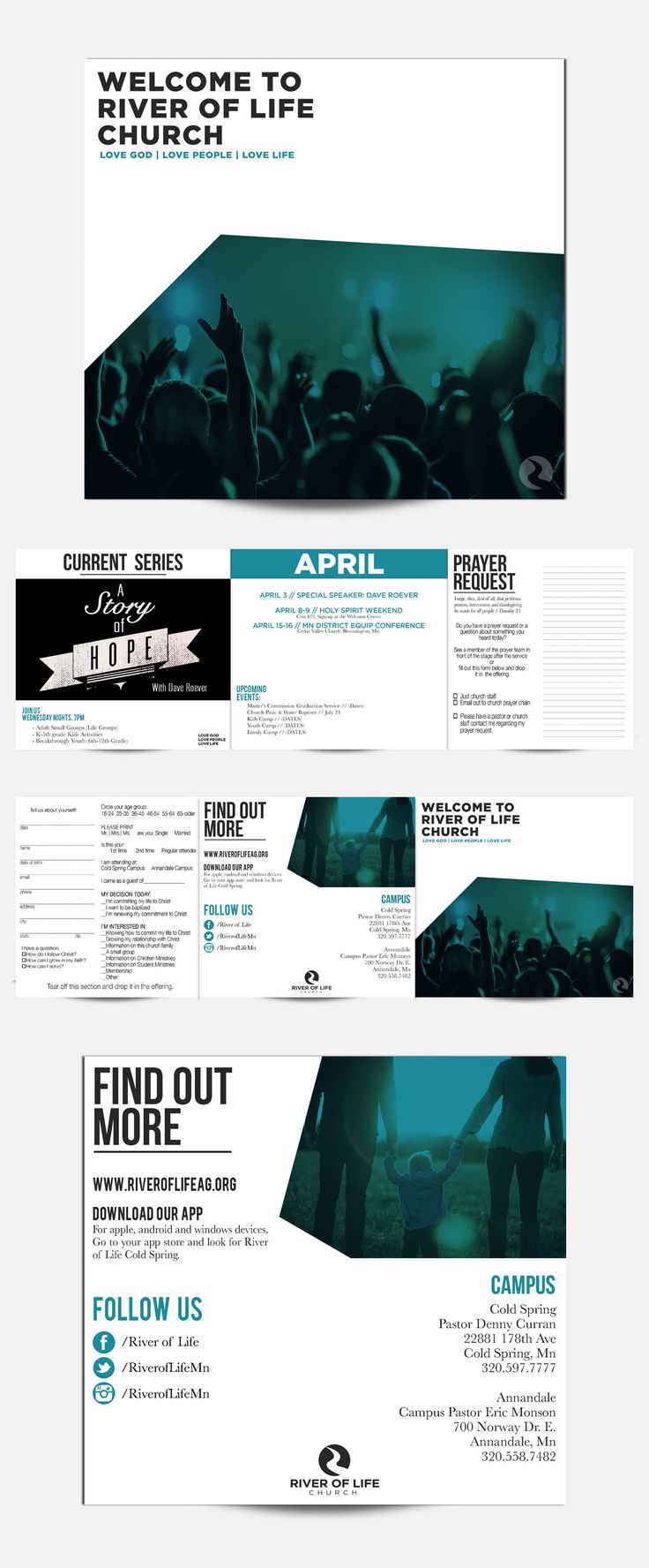 Church Bulletin done by 320 Creative for River of Life Church in Cold Spring, MN