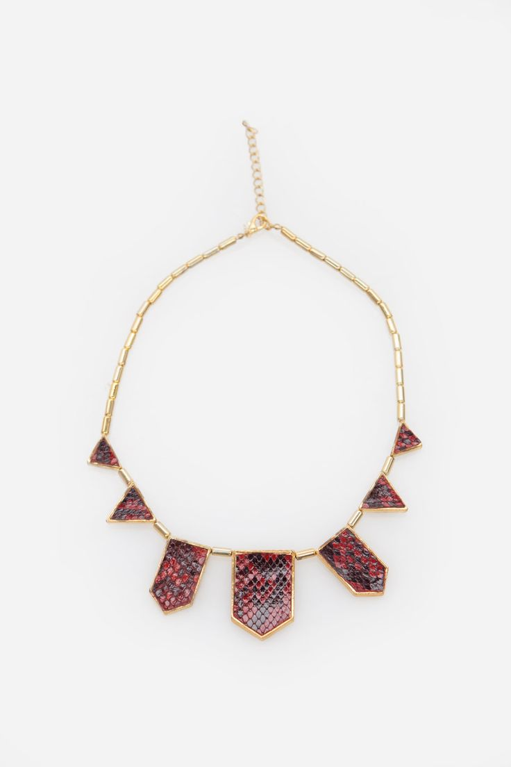 Red Phyton Station Necklace
