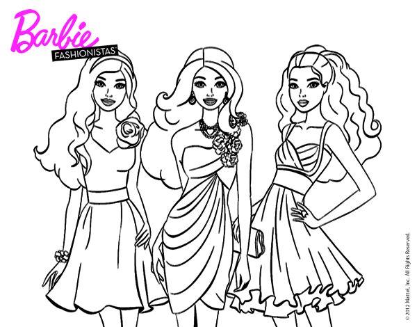 Dibujos Para Colorear E Imprimir De Barbie: 55 Best Dibujos De Barbie Para Colorear Images On Pinterest