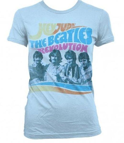 The Beatles Shirt: Hey Jude Revolution Blue Tee