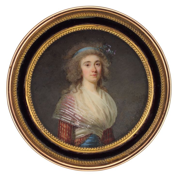 Portrait of lady, c. 1789 by Jacques-Antoine-Marie Lemoine