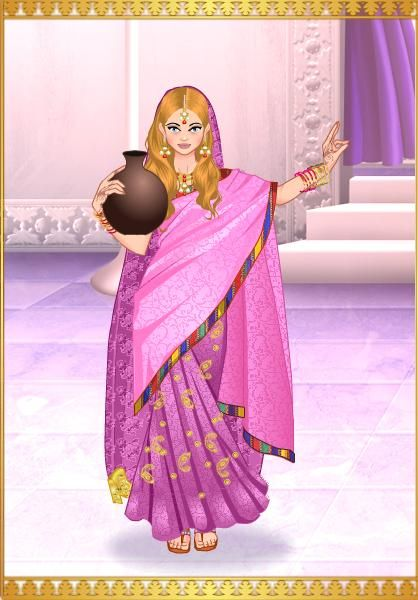 Princesa Camila en traje Indu
