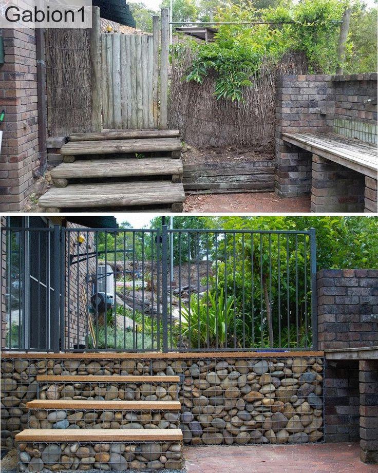 gabion wall and steps http://www.gabion1.com