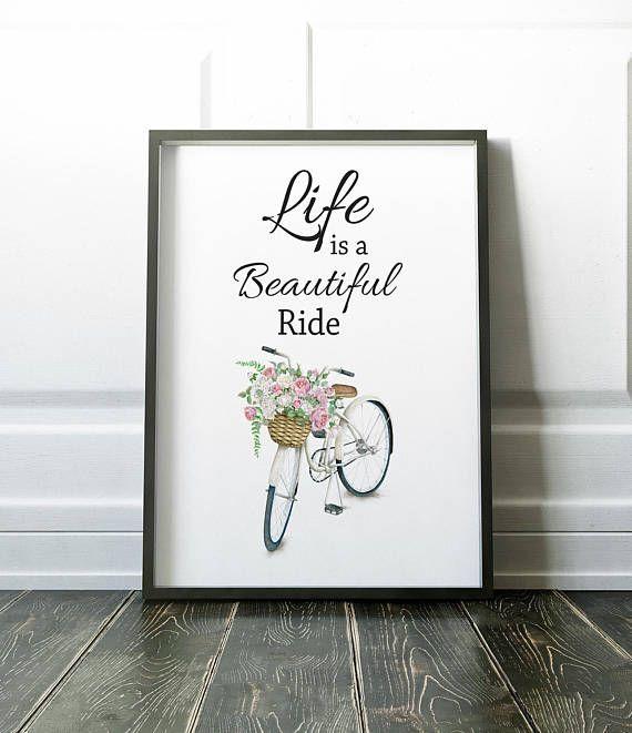 Minimalist Print, Bicycle Print, Quote Print, Modern Print, Wall Art Prints, Minimalist Art, Wall Art, Art Prints, Modern Art, Prints, Art