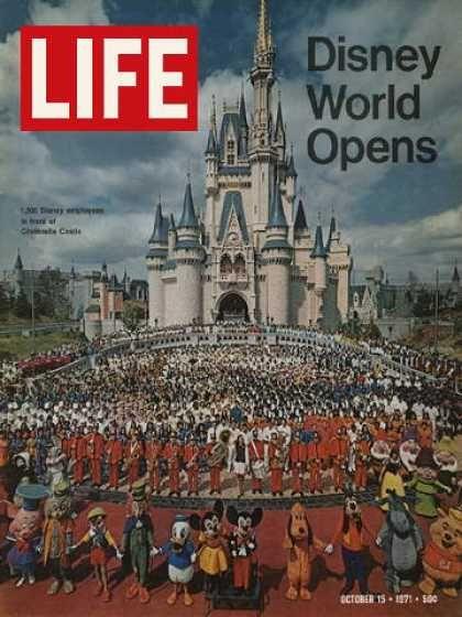 Life - Opening of Disney World: Lifemagazin, Walt Disney World, Disney World, Life Magazines, Magic Kingdom, Places, October 15, Magazines Covers, Disney Worlds