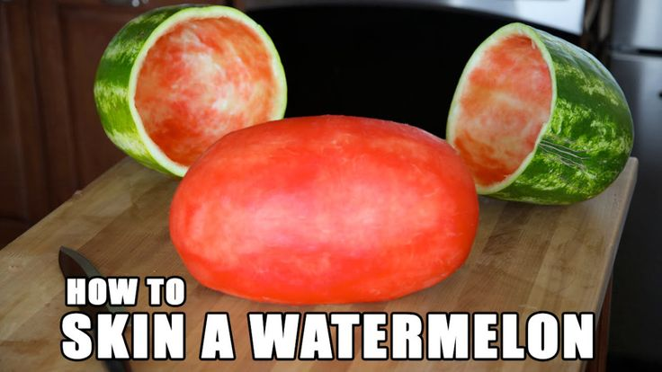 A Demonstration of How to Create an Impressive Skinned Watermelon to Bring to Parties