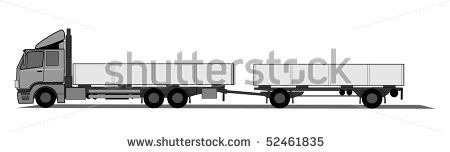 truck with a trailer