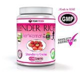 The New Whey Protein Isolate Powder Shakes For Women And Weight Loss In Creamy Delicious Strawberry Creme Slender Rich 420 Grams By Your Weigh Includes A 100% Money Back Guarantee And ON SALE NOW! Reviews