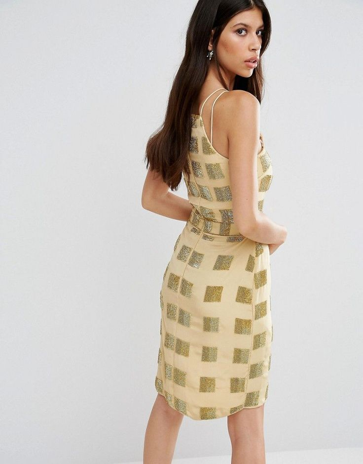 Virgos Lounge Aimee Ruched Front Dress - Yellow