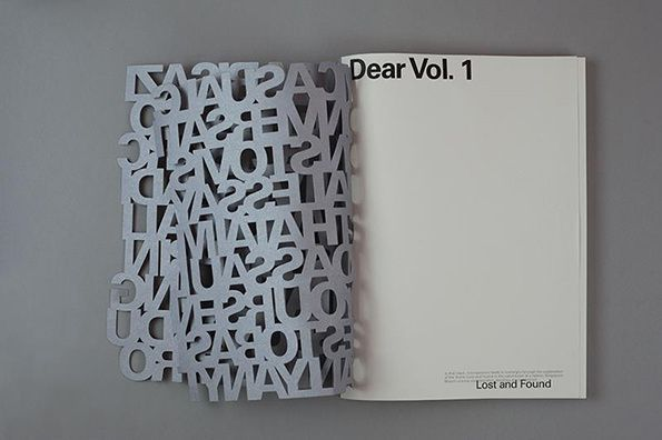 Dear zine cover design