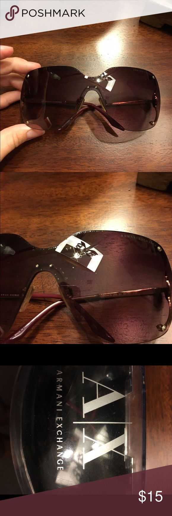 Used Armani Exchange sunglasses Very used, but still great glasses! Has some spots on the actual lenses. Armani Exchange Accessories Sunglasses
