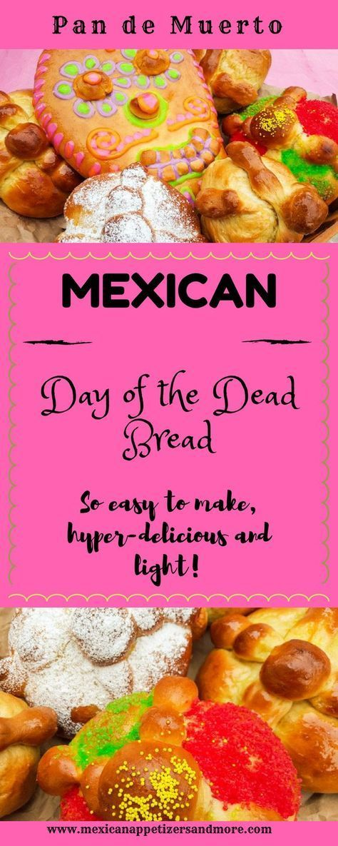 "Day of the Dead Bread or ""Pan de Muertos"" is a delicious, light, sweet bread made to celebrate Day of the Dead or ""Dia de los Muertos."""