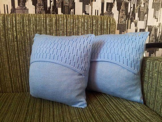 Pillow Knitted pillow Throw pillow  Couch pillow Decorative
