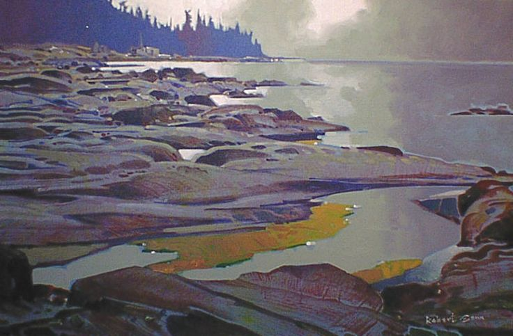 """Low Tide Whaling Station Hornby Island"" acrylic by Robert Genn"