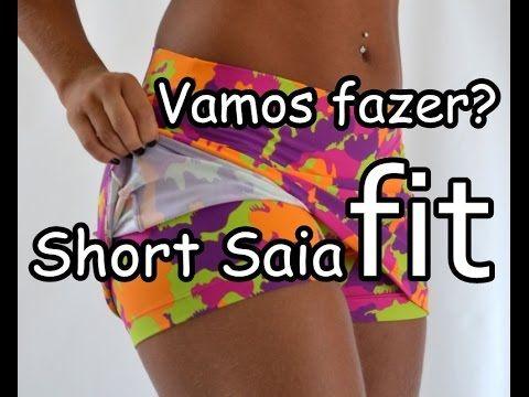DIY Como fazer short saia fitness/de academia - passo a passo - molde e costura (MUITO FÁCIL) - YouTube