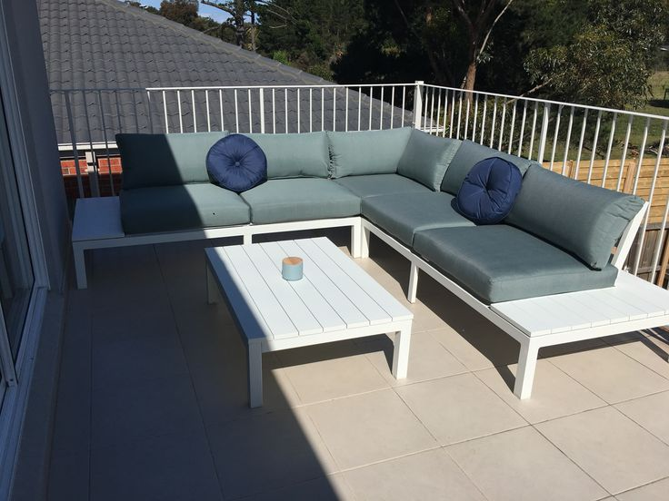 Early settler marina sofa and coffee table for the upstairs terrace