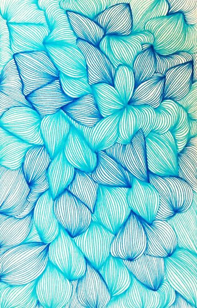 Delicate Pattern In Aqua Turquoise Teal