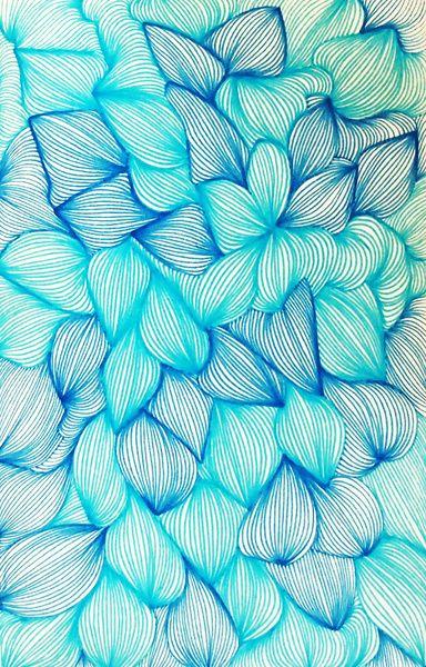 Mon secret, la poesie de ma vie. aqua turquoise teal