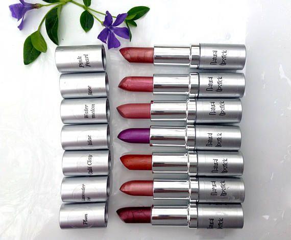Labiales de botánicas. Lápiz labial orgánico. Productos de belleza orgánicos. Maquillaje de verano. Barra de labios que dura. Color natural del labio. Lápiz labial mineral