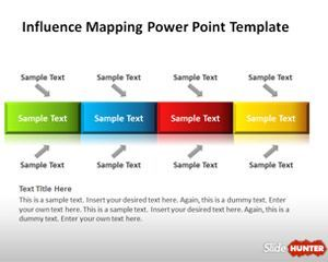 Influence Mapping PowerPoint Template is a simple slide design and diagram that you can download to make presentations on concept influence mapping or decision making presentations
