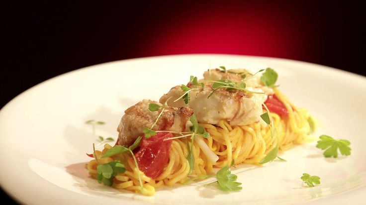 Ep48 - Saffron Linguine with Butter Poached Bug Tail