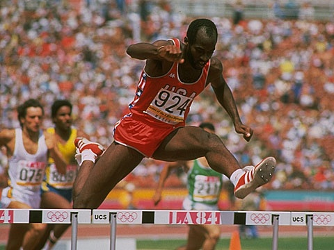 US athlete Edwin Moses won the gold medal in the 400m hurdles at the Los Angeles Games. This came as no surprise as Moses dominated this discipline between 1977 and 1987, winning 122 consecutive races! He ended his Olympic career at the age of 33 at the Seoul 1988 Games, winning a bronze medal, again in the 400m hurdles  ©Getty David Cannon