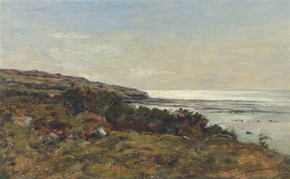 Eugène Louis Boudin, Villerville. Le rivage, Made of oil on panel