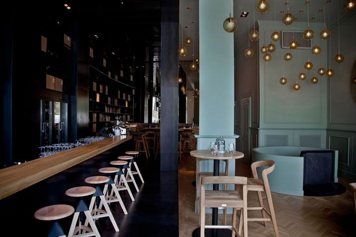ZONA Wine Bar and Restaurant in Budapest, Hungary / HALF& HALF beauty! http://www.yatzer.com/zona-wine-bar-restaurant-budapest-hungary