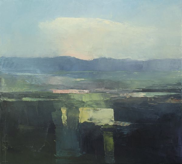 Rich Bowman . Fielded Floor . 28x31, oil on canvas