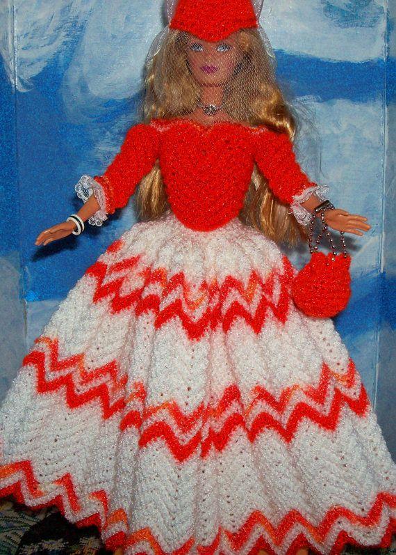 Barbie in English Country Costume by DebbysDollsDelight on Etsy, $50.00