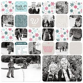 Digital Scrapbook Layouts by Nicole LeBlanc: Project Life | December 2013