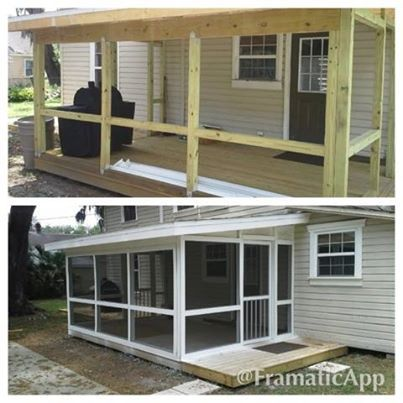 Top 2081 ideas about mobile home makeovers on pinterest for Screened in porch ideas for mobile homes