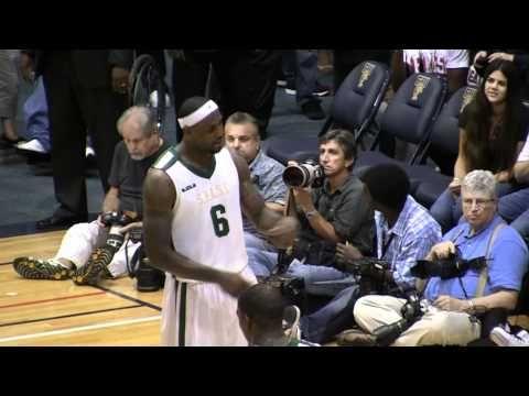"Lebron James sings ""Niggas in Paris"" Then hits Half-Court Shot at the Buzzer!"