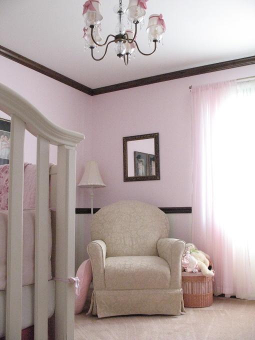 Pink Brown Baby Room