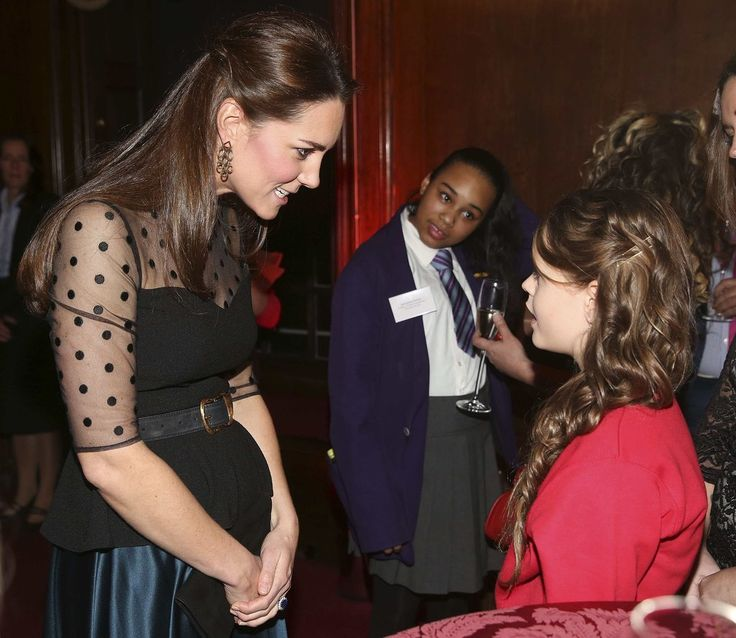 Pregnant Kate Middleton Hosts Wellbeing in Schools Awards.