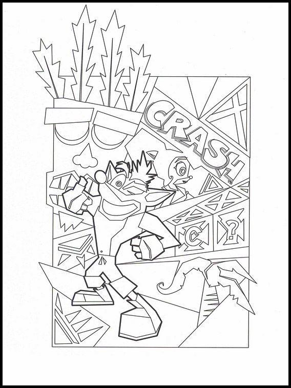 Crash Bandicoot 9 Desenhos Para Colorir Para Criancas Para