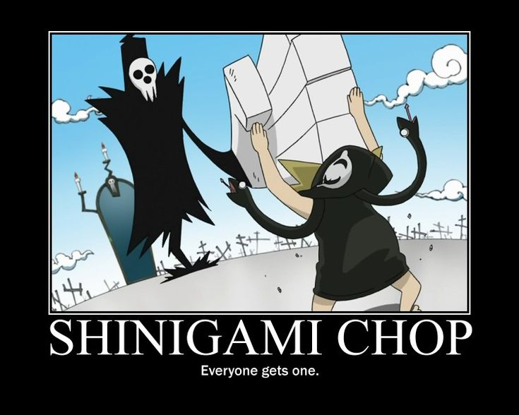 soul eater shinigami chop anime and manga pinterest