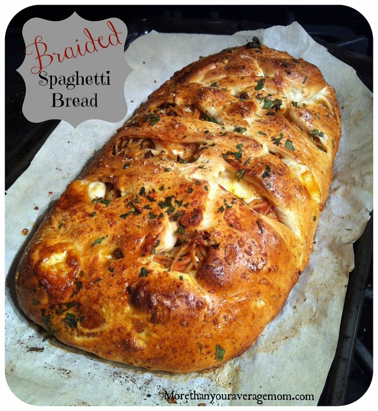 Another take on the food braid: Braided Spaghetti Bread from More Than Your Average Mom