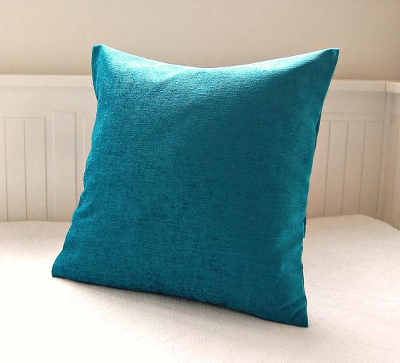 accent peacock blue pillow cover  turquoise by LittleJoobieBoo, £18.90