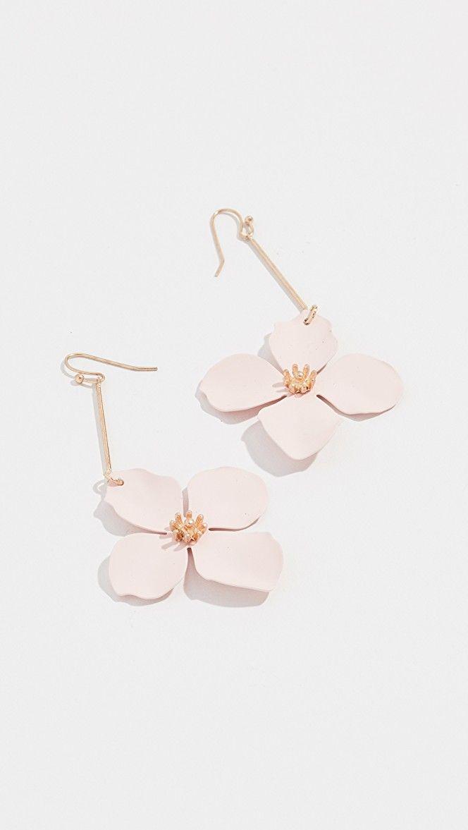 Spring Flower Drop Earrings