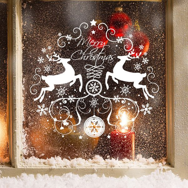 Wandtattoo - Wandtattoo Fensterbild Elche Christmas Weihnachten - ein Designerstück von wandtattoo-loft bei DaWanda
