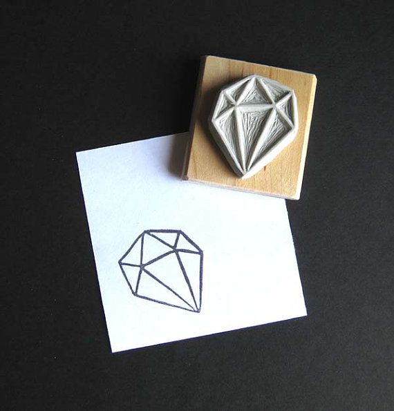 Crystal Configuration 22 Hand Carved Stamp by extase on Etsy, $10.00